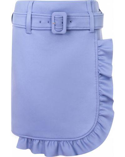Юбка мини с оборками с карманами свободного кроя Prada