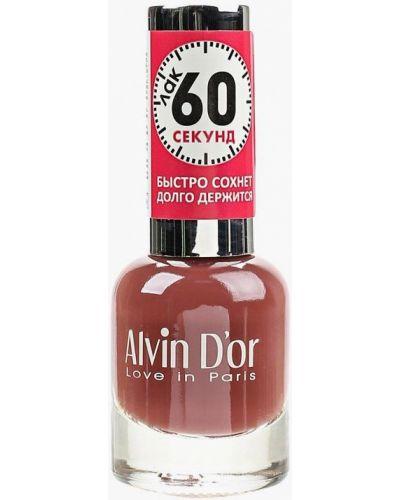 Коричневый лак для ногтей Alvin D'or