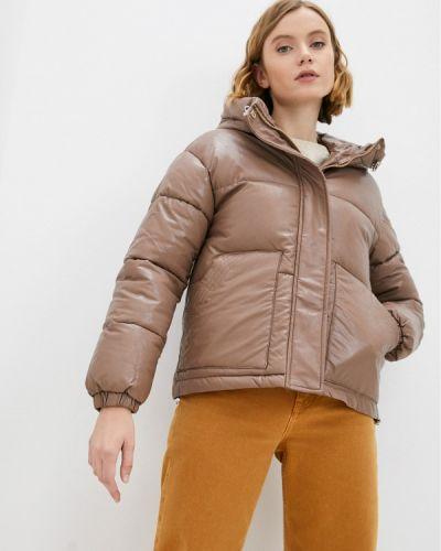 Кожаная куртка - коричневая Fresh Cotton