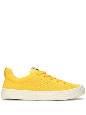 Żółte sneakersy sznurowane koronkowe Cariuma
