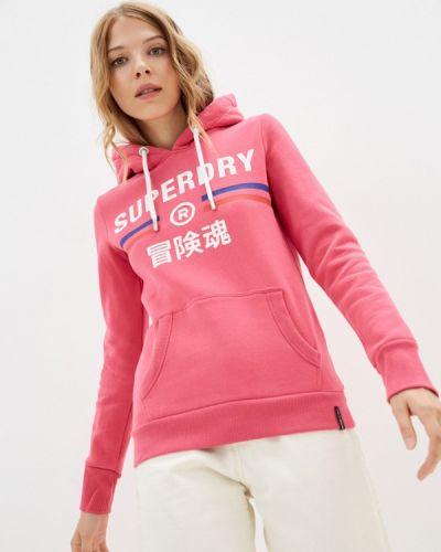 Розовая зимняя худи Superdry