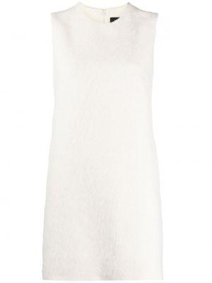 Шерстяное белое платье трапеция Dsquared2