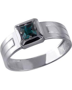 Кольцо серебряный с декоративной отделкой Aquamarine