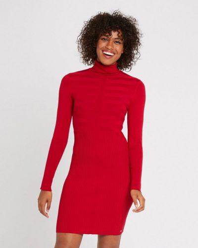 Вязаное платье - красное Morgan