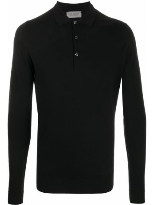 Черная рубашка на пуговицах John Smedley