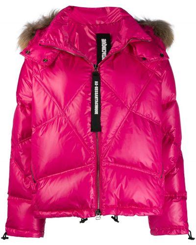 Куртка с капюшоном розовая на молнии As65