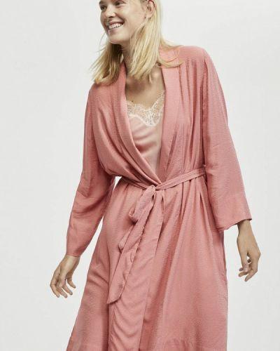 Розовый халат домашний Oysho