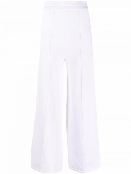 Хлопковые белые брюки с карманами Falke