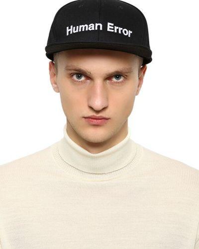 Czarny kapelusz bawełniany z haftem Undercover