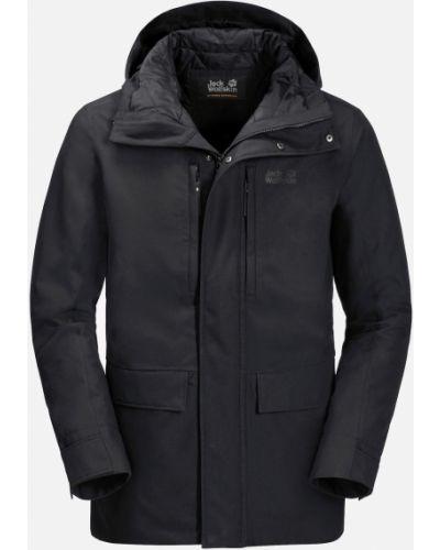 Куртка с капюшоном - черная Jack Wolfskin
