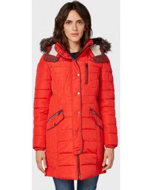 Утепленная куртка - красная Tom Tailor