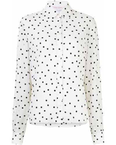 С рукавами черная рубашка в горошек Carolina Herrera