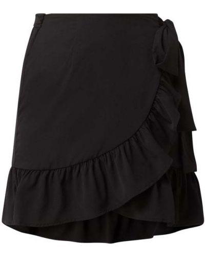 Czarna spódnica mini rozkloszowana z falbanami Only
