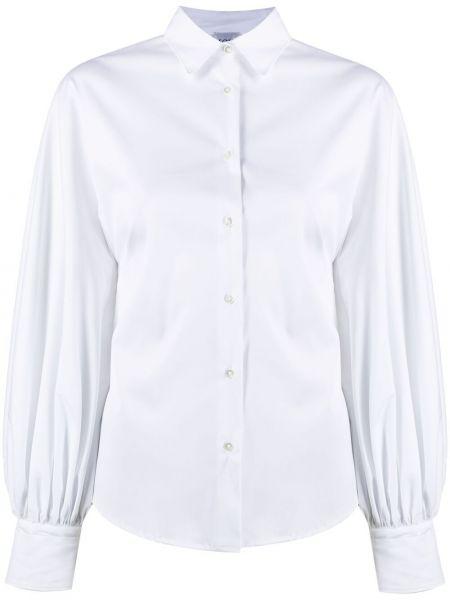 Хлопковая белая классическая рубашка с воротником Sara Roka