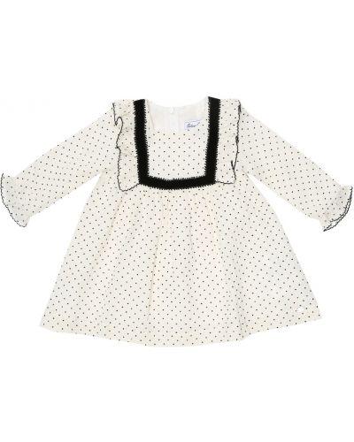 Ватное хлопковое белое платье Tartine Et Chocolat