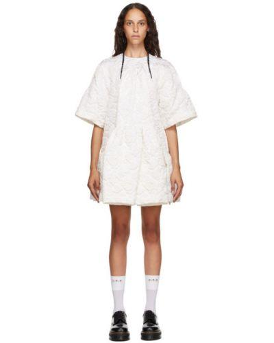 Асимметричное платье с воротником с карманами с короткими рукавами Simone Rocha