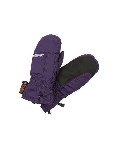 Фиолетовые теплые текстильные перчатки Huppa