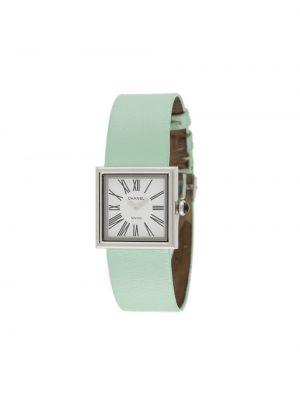Niebieski zegarek na skórzanym pasku skórzany klamry Chanel Pre-owned