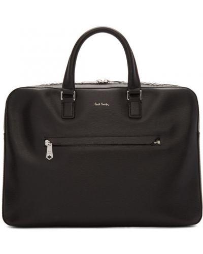 Черный деловой кожаный портфель Paul Smith