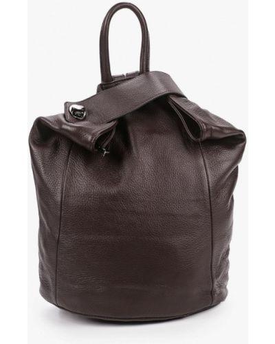 Коричневый городской рюкзак из натуральной кожи Valensiy