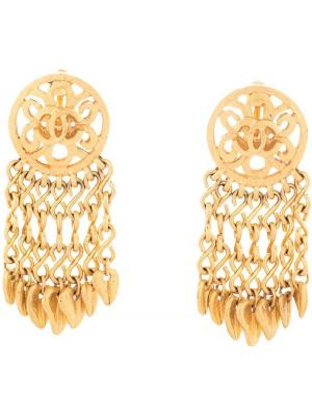 Kolczyki pierścionki kolczyki ze sztyftem ze złota Chanel Pre-owned