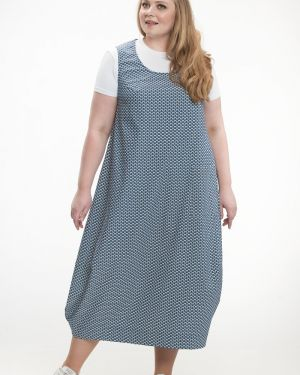 Летнее платье с декольте платье-сарафан прима линия
