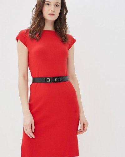 Платье весеннее красный Conso Wear