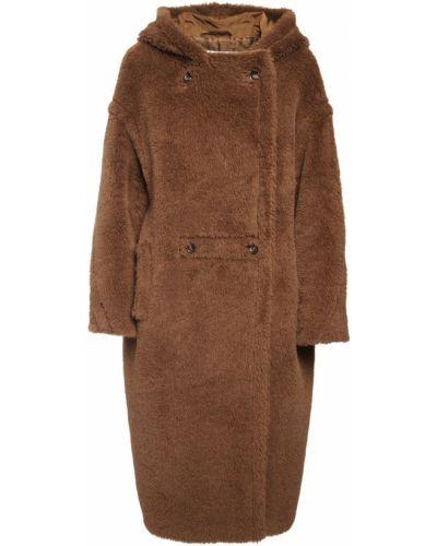 Шерстяное пальто на пуговицах двубортное Max Mara
