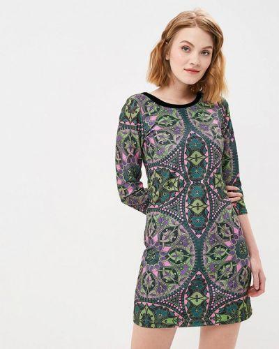 Прямое зеленое платье Custo Barcelona