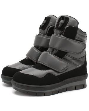 Теплые кожаные черные ботинки Jog Dog