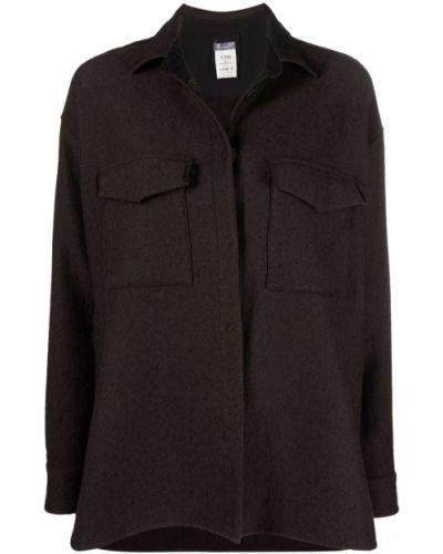 Коричневая рубашка с карманами Kristensen Du Nord