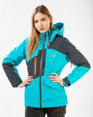 С рукавами нейлоновая бирюзовая зимняя куртка стрейч Snow Headquarter