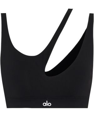Черный спортивный бюстгальтер для йоги Alo Yoga