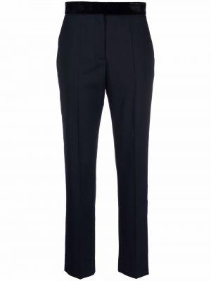Синие шелковые брюки Sandro Paris
