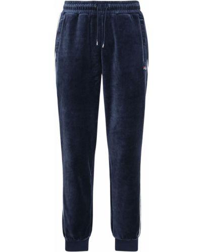 Prążkowane spodnie z haftem Fila Urban