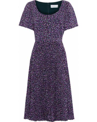 Плиссированное фиолетовое платье с подкладкой Mikael Aghal