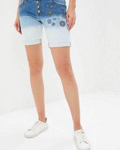 Голубые джинсовые шорты Desigual