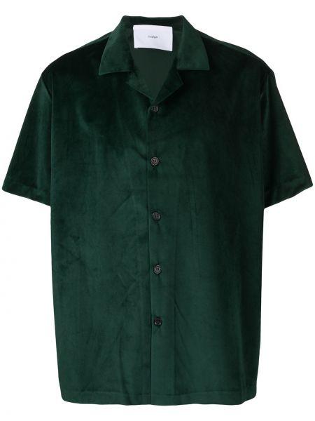 Zielona koszula krótki rękaw szmaragd Goodfight