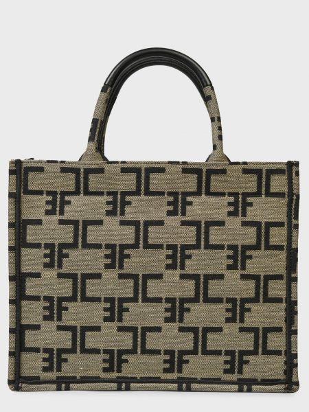 Текстильная сумка - коричневая Elisabetta Franchi