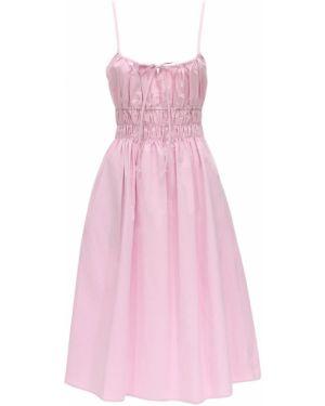 Różowa sukienka midi bawełniana Ciao Lucia