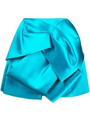 Niebieska spódnica z wysokim stanem asymetryczna Dice Kayek