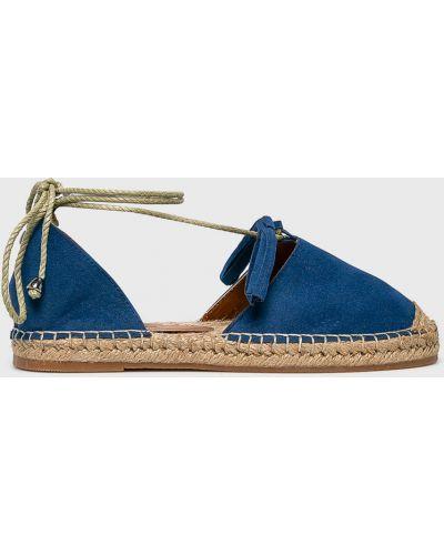 Эспадрильи на шнуровке синий Answear