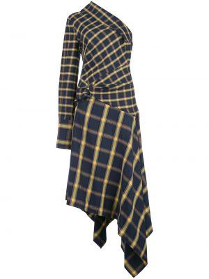 Платье миди со складками в клетку Monse