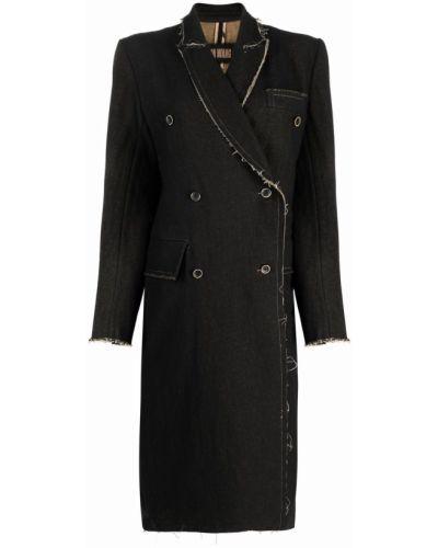 Черное пальто с карманами Uma Wang