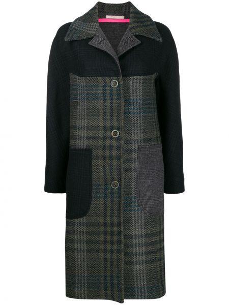Длинное пальто без воротника на кнопках Ermanno Gallamini