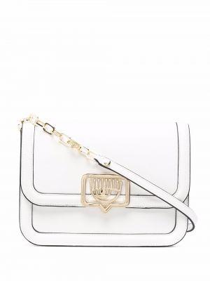 Złota torebka na łańcuszku - biała Chiara Ferragni