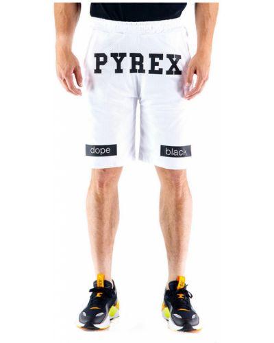 Białe szorty Pyrex