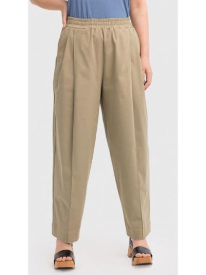 Прямые брюки - хаки Lessismore