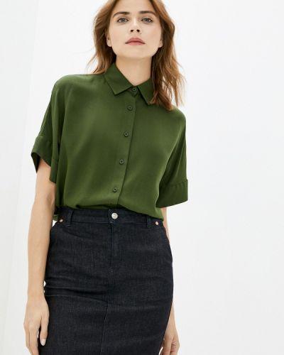 Базовая с рукавами зеленая блузка Base Forms