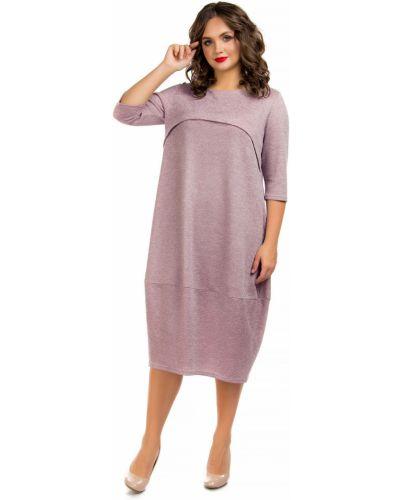 Платье розовое в стиле бохо Liza Fashion